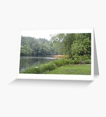 The Concord River in Summer Flowers Greeting Card