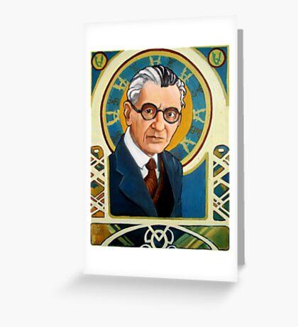 Kurt Gödel Greeting Card
