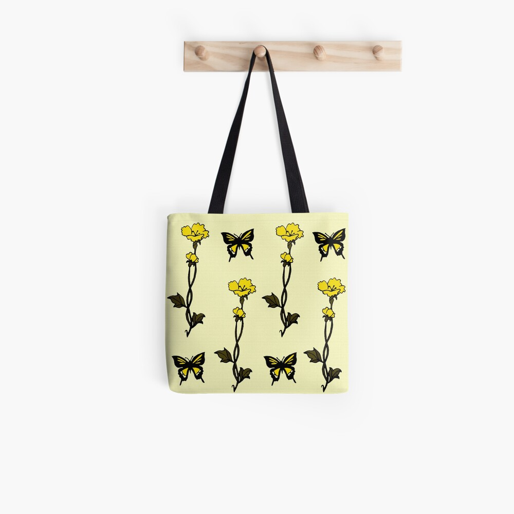 Yellow Butterflies & Flowers - Art Nouveau   Tote Bag