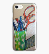 still life with scissors iPhone Case/Skin