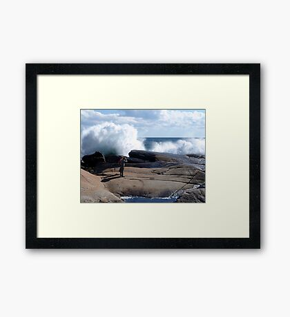 Bursting Waves Framed Print