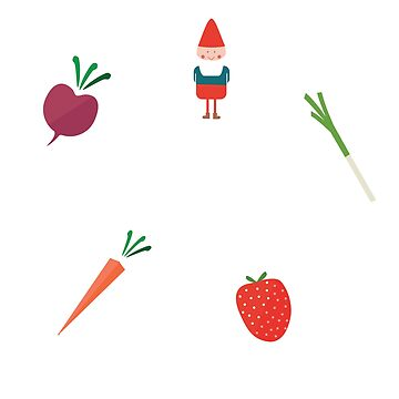 Garden Gnome And Vegetables by JNaturally