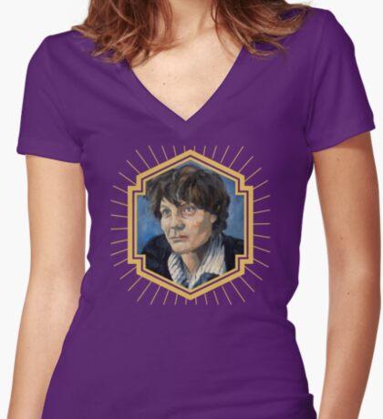 Iris Murdoch Women's Fitted V-Neck T-Shirt