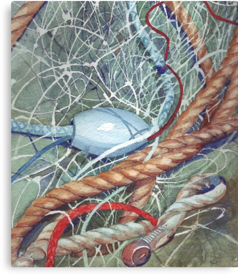Fishing Net by Val Spayne