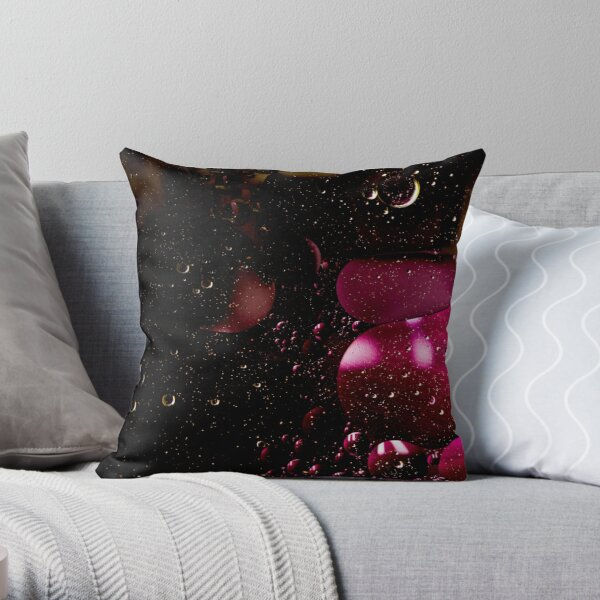 Multiverse in red Throw Pillow