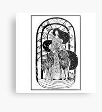Woman who run with wolfs Metal Print