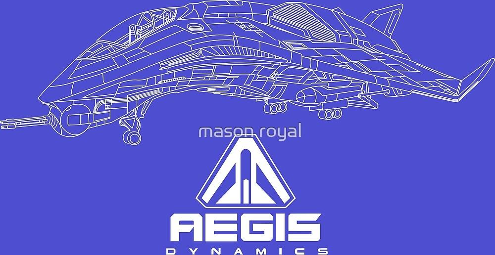 Aegis Avenger Star Citizen Blueprint Illustration by Swizzle101