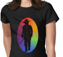 Athos Rainbow Illustration - Musketeer Motto Womens Fitted T-Shirt