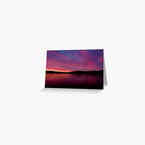 Sunset Summer  Solstice Greeting Card