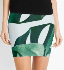 Monstera #redbubble #artprints Mini Skirt