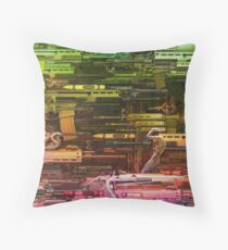 Krayola Section Strawberry/Kiwi Throw Pillow