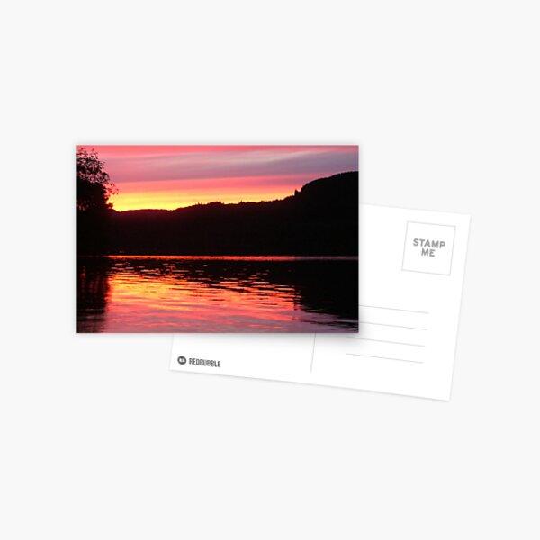 Sunset  Coachhouseturn Loch  Awe Postcard