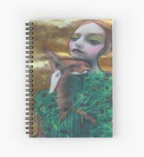 Fantasy Fox Fur Thorn Pine Needle Dress Nature Surreal Art Portrait Spiral Notebook