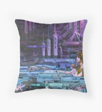 Krayola Section Violet/Blue Throw Pillow