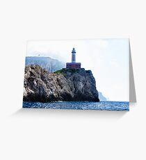 Amalfi Coast Lighthouse Greeting Card