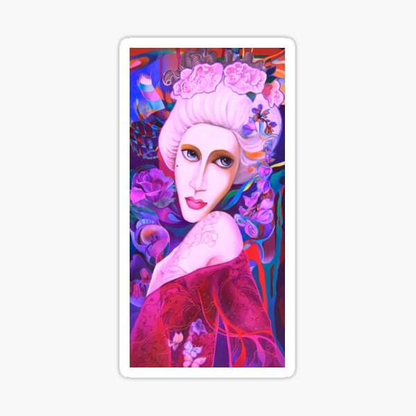 """Lady with """"Mushka"""" Sticker"""