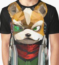 Fox McCloud (Polygonal) from Starfox Graphic T-Shirt