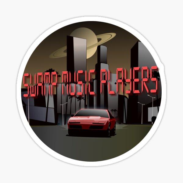 Swamp Music Players retro futuristic firebird saturn Sticker