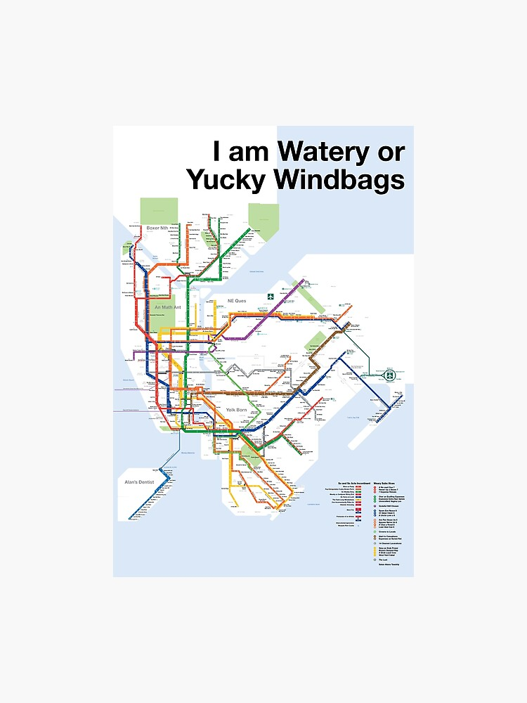 Subway Map New York For Print.New York Subway Map Of Anagrams Photographic Print