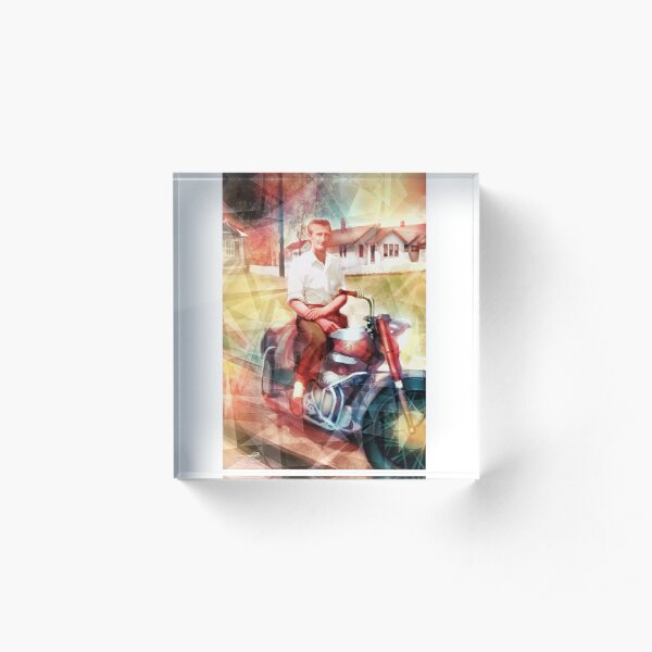 Swamp Music Players, timeless cool, Ariel Square Four motorcycle Acrylic Block