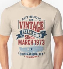 Vintage since march 1973 Slim Fit T-Shirt