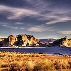 Lake Powell Harbor at Sunrise by Roger Passman