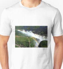 Rainbow Over Victoria Falls  Unisex T-Shirt