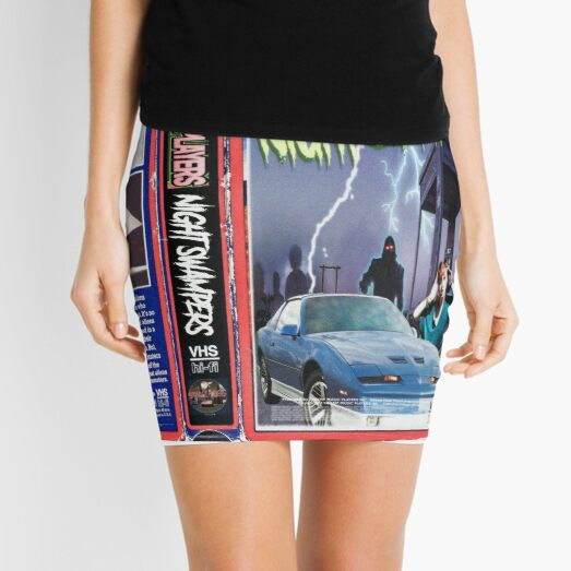 Night Swampers, Swamp Music Players, retro vhs horror movie Mini Skirt