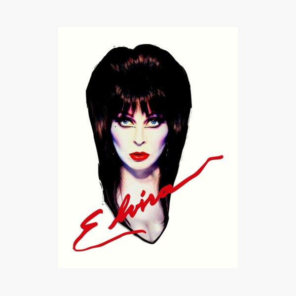 Elvira the Mistress  Art Print