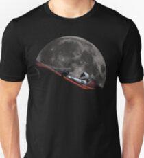 Spacex Starman im Orbit um den Mond Unisex T-Shirt