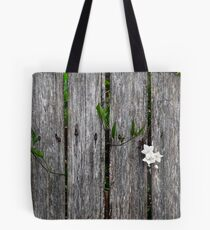 fence with flower Tote Bag
