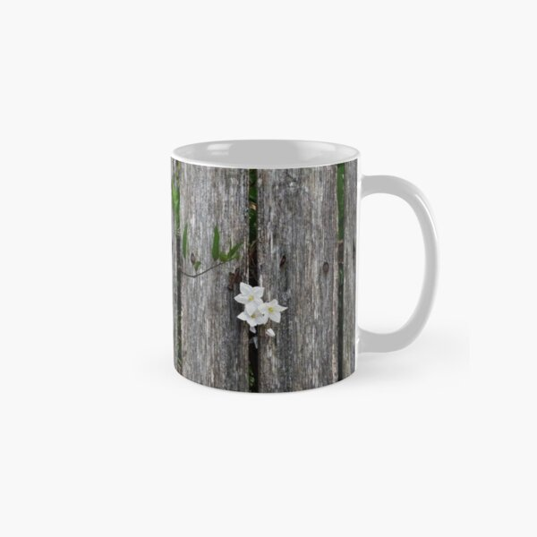 fence with flower Classic Mug