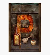 Steampunk - Alphabet - P is for Pharmacy Photographic Print
