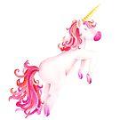 Unicorn watercolor art  by Sarah Trett