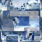 Composition With Birds in Flight and Clouds #1 by Ivana Redwine