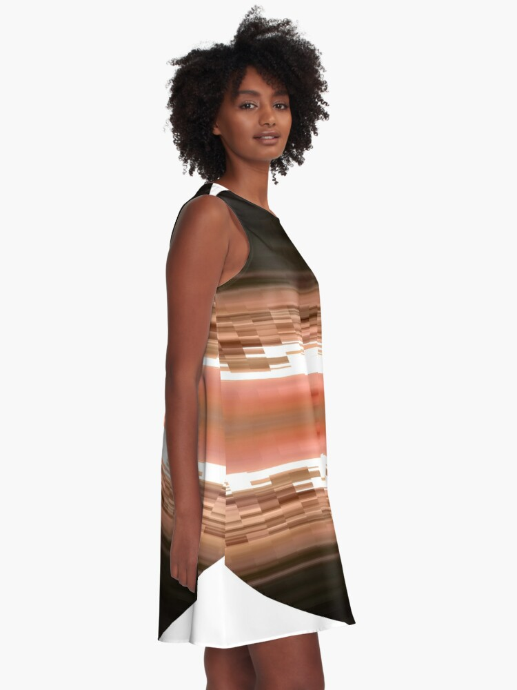 Alternate view of Tracery, weave, drawing, figure, picture, illustration, structure, framework A-Line Dress
