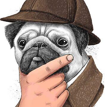 Sherlock Pug by NikKor