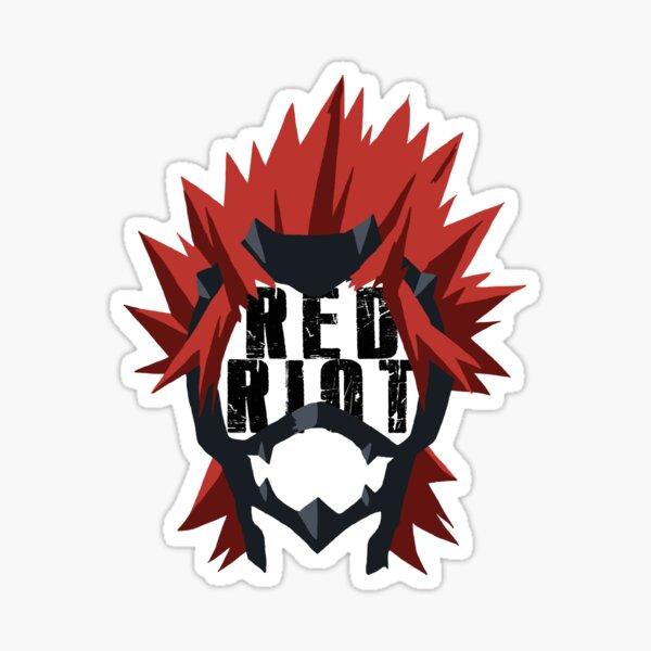 Minimalistic BNHA Kirishima Eijirou Red Riot Sticker