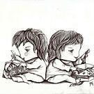 The Twins' Birthday by lynzart