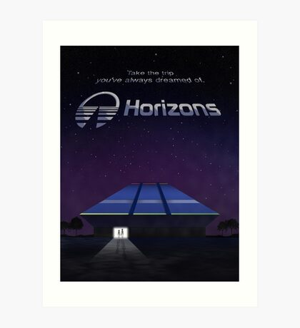 Horizons from EPCOT Center (with Text) Art Print