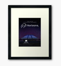 Horizons from EPCOT Center (with Text) Framed Print