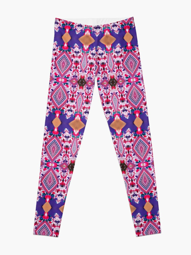 Alternate view of Design, tracery, weave, drawing, figure, picture, illustration, structure Leggings
