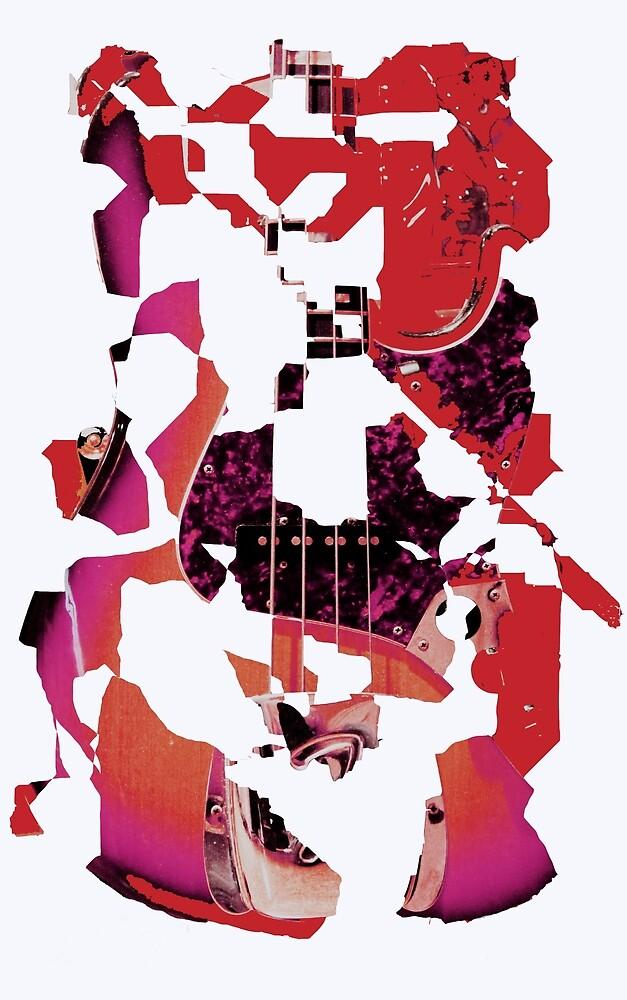 Guitar explosion by John Stuart Webbstock