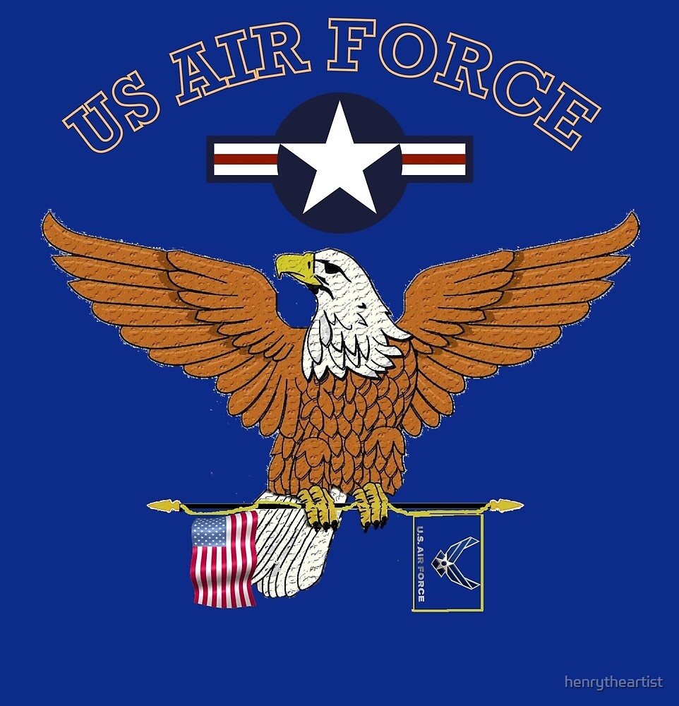 U.S. Air Force Eagle Flag by henrytheartist