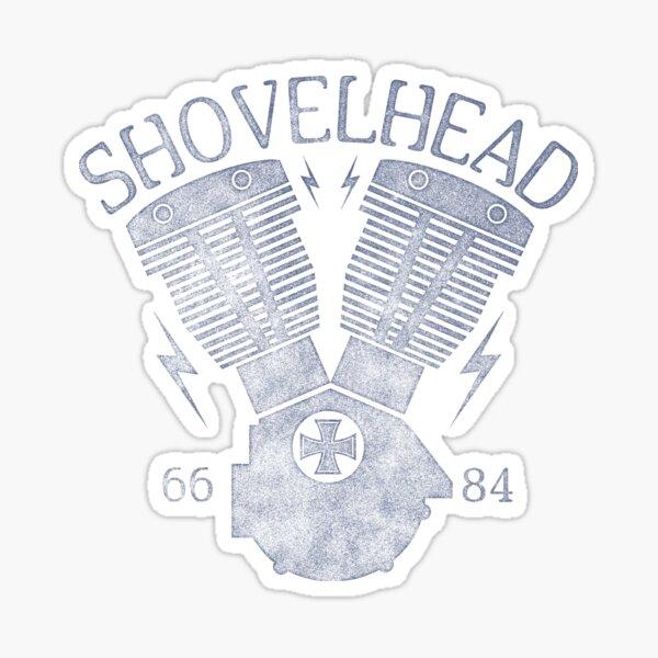 Shovelhead Motorcycle Engine Glossy Sticker