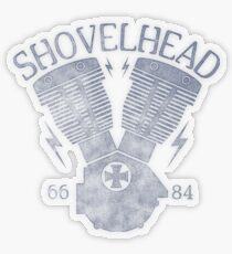 Shovelhead Motorcycle Engine Transparenter Sticker