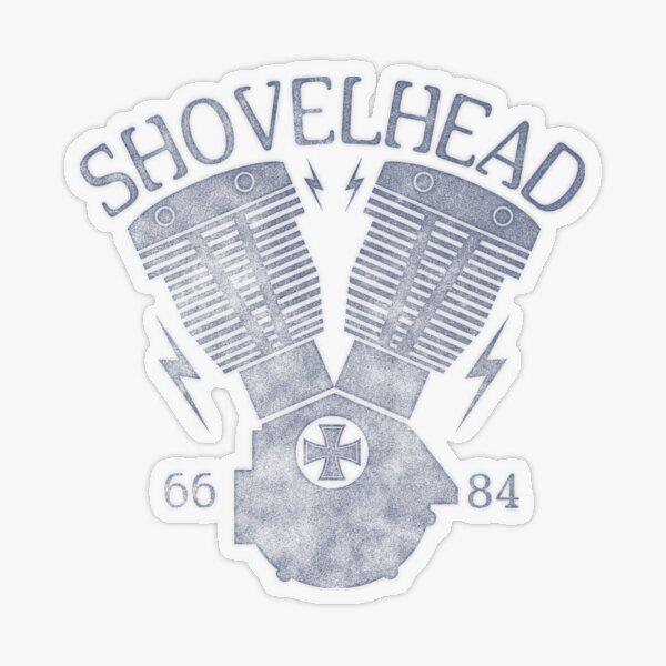 Shovelhead Motorcycle Engine Transparent Sticker