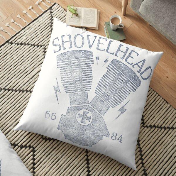Shovelhead Motorcycle Engine Floor Pillow