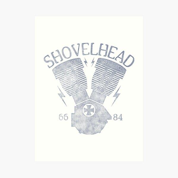 Shovelhead Motorcycle Engine Art Print