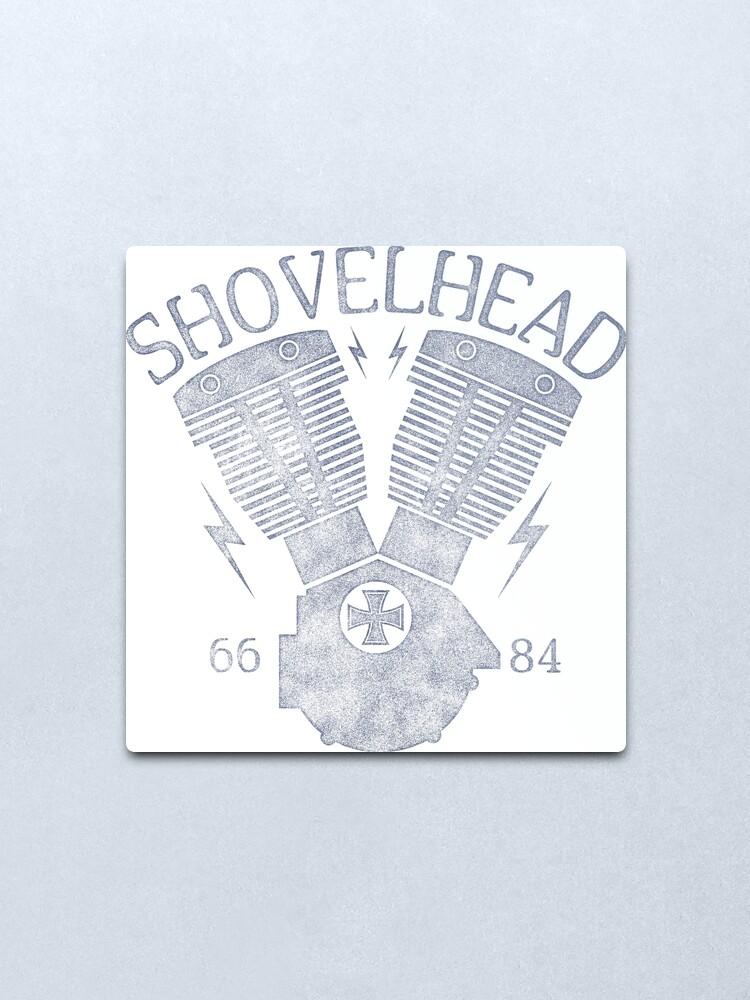 Alternative Ansicht von Shovelhead Motorcycle Engine Metallbild